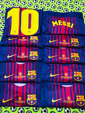 RARE Nike FC Barcelona Home Soccer Football Jersey Final 2018 Lionel Messi