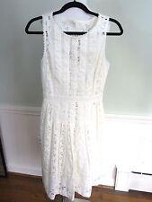 J Crew Collection Ivory Cotton Eyelet Dress NWT Size 00 Style C2189 Retail $298