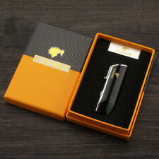 Cohiba Windproof 3 Torch Cigar Lighter Jet Flame Refillable Butane Punch Gift