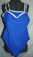 Croft Barrow royal blue ribbed 16 one piece swimsuit