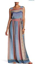 NWT $369 Johnny Was Bellini Printed Maxi Dress With Slip XS