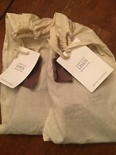 Restoration Hardware Pair of Garment Dyed Linen Lumbar Shams SABLE New!