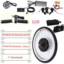 "LCD 26 ""rueda trasera1000W48V kit bicicleta eléctrica Ebike conversión bicicleta"