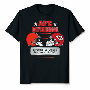 Cleveland Browns and Kansas City Chiefs NFL Divisional 2021 T-Shirt Unisex