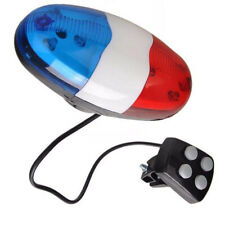 Bike Bicycle Police Car 6 LED Light 4 Sounds Trumpet Cycling Horn Bell Siren