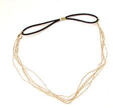 Gold Chain Headband Festival Boho Hair Jewellery Elasticated Band Headpiece 424