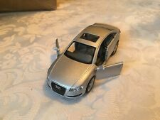 1:38 KINSMART AUDI A6 SILVER DIECAST MODEL CAR OPENING DOORS PULLBACK