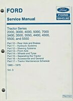 Ford Service Manual Tractor 1965-1975 Vol 3 Part 10-17 Series 2000-5550 See List