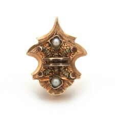 Antique 10k Gold Slide with Seed Pearls High Victorian Style