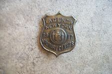 vintage 1917 New York Military Census mini  MP deputy sheriff police badge
