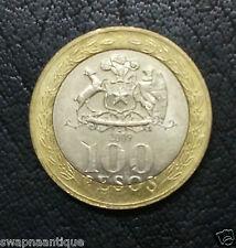 2001-15~~Chile~~100 PESOS~~Obv:Mapuche Indian Woman ~~Collectors Bi-Metal Coin