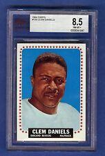 1964 Topps Football Clem Daniels #136 Oakland Raiders BVG 8.5