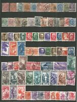 Italy from 1863 nice collection used stamps