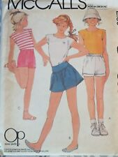 Lovely VTG 83 McCALLS 8596 Girls Knit Top & Shorts in 3 Versions PATTERN 8 UC