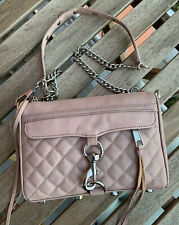 REBECCA MINKOFF Quilted Mini M.A.C Crossbody Antique Pink Nude Blush Bag $195