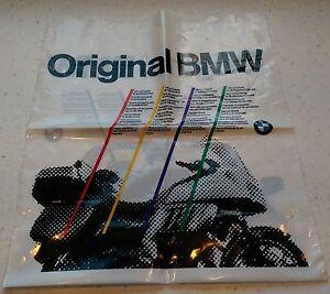 NOS ORIGINAL VINTAGE BMW MOTORCYCLE AUTOMOBILE DEALERSHIP SHOPPING BAG 1990