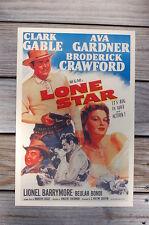 Lone Star Lobby Card Movie Poster Clarck Gabel