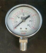 """Binks 83-1414 Gauge - 30#, 2-1/2"""" Diameter"""