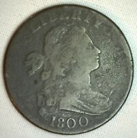 1800 Draped Bust Copper Large Cent OLD 1c Penny S 205 Variety VG Circulated Coin