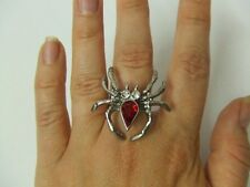 Spider Ring  ~ Witch ~ Silver Metal ~ Halloween ~ NEW