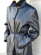 BLACK SHINY  PVC TRENCH COAT  -  VINYL  RAIN COAT LARGE
