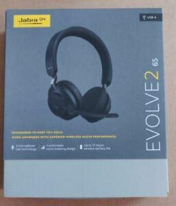 New Genuine Jabra Evolve2 65 -380a Stereo Wireless Headset (UC, USB-A) - Black
