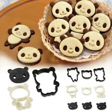 4 Panda Shape Cookie Biscuit Pastry Cutter Plastic Mould DIY Baking Cake Decor