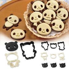 4 Panda Forme Cookie Biscuit Pâtisserie Cutter En Plastique Moule Cuisson