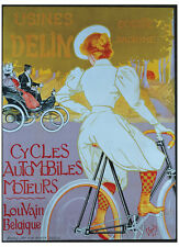 VINTAGE BICYCLE (GICLEE) ART PRINT - Cycles Delin by Georges Gaudy, 26x36 Poster