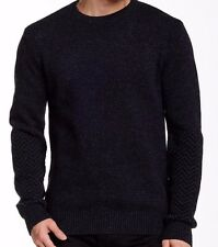 New BARBOUR Sz L Melton 100% Wool Navy Blue Crew Neck Sweater - NWT Deal!