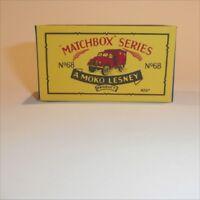 Matchbox Lesney 68 a Austin Army Truck empty Repro B style Box