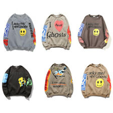Smiley Face Digital Printing Round Neck Sweater Hip-Hop Adult Casual Pullover