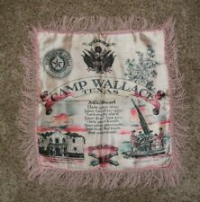 Vintage 1940's Ww2 Us Army Camp Wallace, Tx Sweetheart Pillow Sham