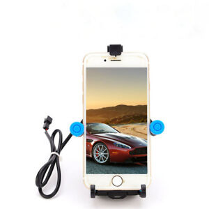 Motorcycle Retractable Mobile Phone Cradle Holder Bracket With USB Charger