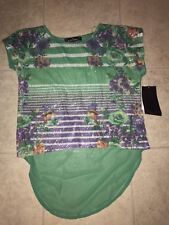 New listing Almost Famous ~ Nwt Women's Sheer Floral Blouse Shirt Sequence Green ~ M