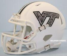 VIRGINIA TECH HOKIES (WHITE HOKIE STONE) Riddell Speed Mini Helmet