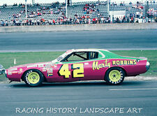 1975 DAYTONA 500 8x10 PHOTO #42 MARTY ROBBINS COUNTRY MUSIC SINGER DODGE CAR