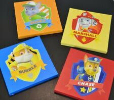 Nickelodeon Paw Patrol Square Canvas Wall Art 4 Pieces 11 inches Chase Rubble