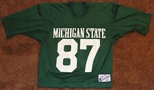 Michigan State Spartans Football Vintage Champion Green Jersey Large #87