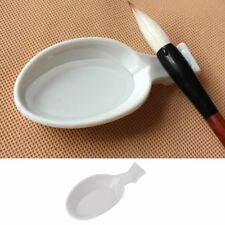 Spoon Shape Ink Tray Containers Chinese Writing Brush Pen Holder Rest NEWEST