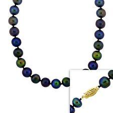 Markenlose Halsketten und Anhänger aus Gelbgold mit Süßwasser-Perlen-Sets