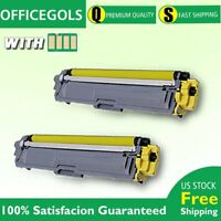 2Pc TN223 Yellow W/Chip Toner For Brother MFC-L3710CW HL-L3210CW HL-L3230CDW
