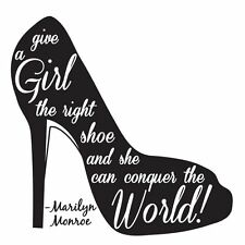 MARYLIN MONROE  THE RIGHT SHOES  Wall Sticker Mural Decal  Custom Quote Graphics