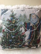 Linda Kotila Counted Cross Stitch Pattern Christmas Santa Throw Pillow Holiday