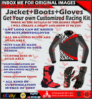 MOTORBIKE JACKET MOTORCYCLE JACKET LEATHER RACING/STREET JACKET GLOVES BOOTS