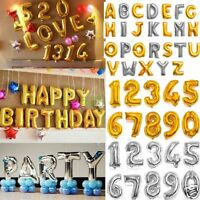 Letter Number Helium Foil Balloon A-Z in Silver/Golden Birthday Wedding Party