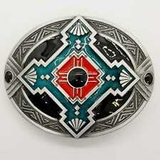 Aztec Native American Belt Buckle Tribal Shield Inca Cherokee Cowboy Western