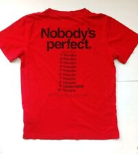 "Porsche Driver's Selection Men's ""Nobody's Perfect"" Red T-shirt -  Sz XS EUC"