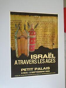 ISRAEL ATRAVERS LES AGES  1968-PETIT PALAIS PARIS 51x66cm