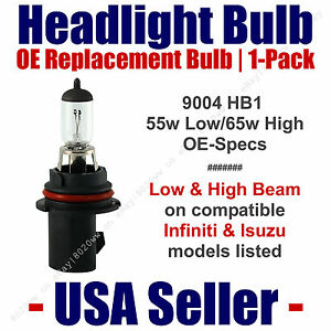 Headlight Bulb High/Low OE Replacement Fits Listed Infiniti & Isuzu Models  9004